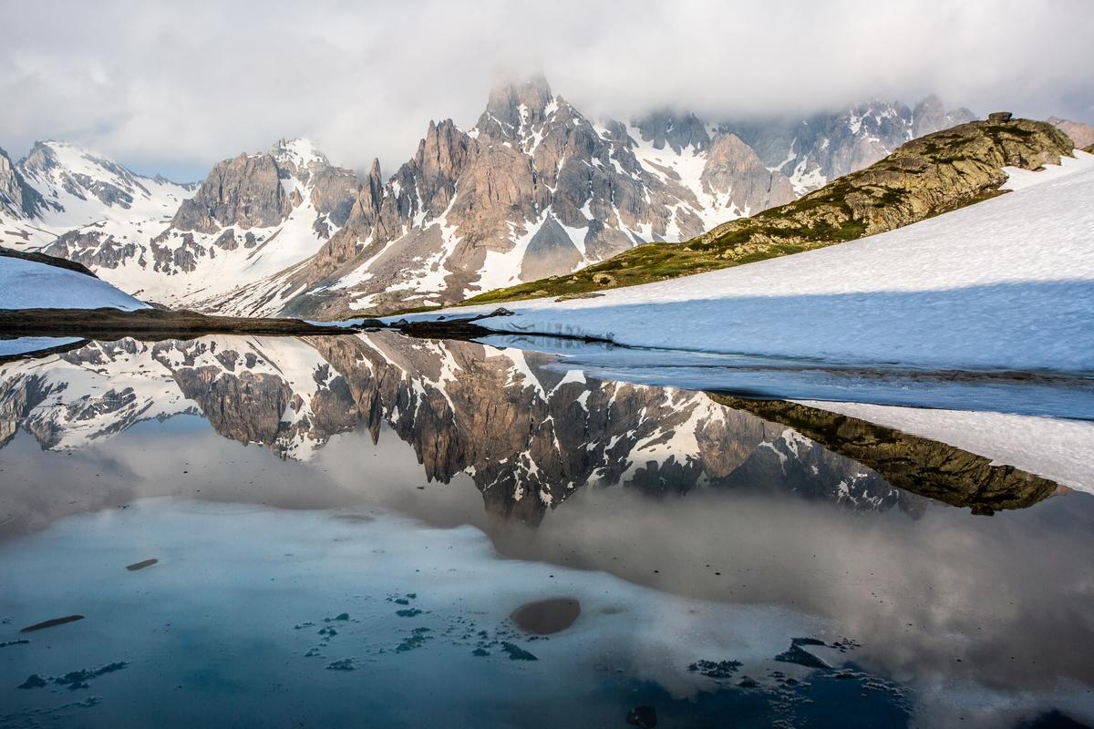 Lac long au dégel