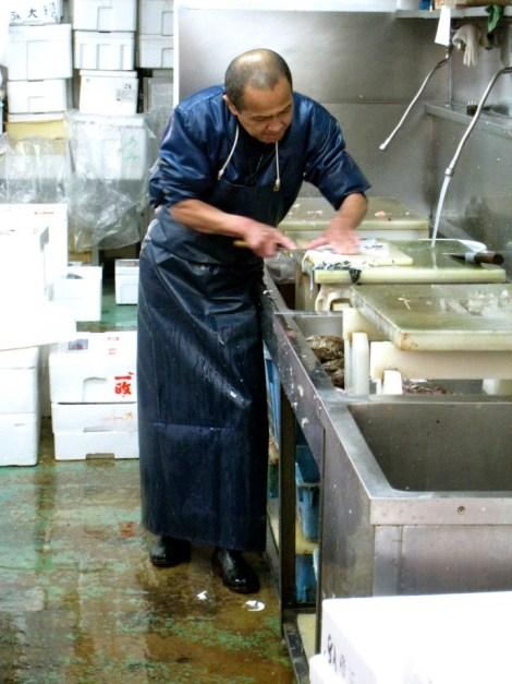 Kyoto Nishiki market sashimi