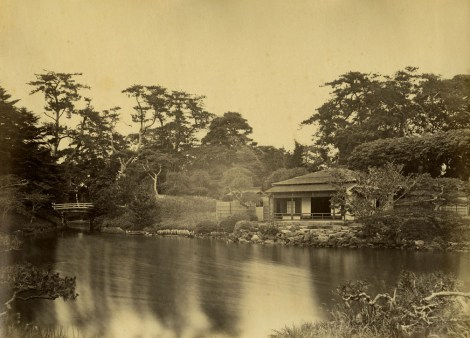 Hama-rikyū in 1863, Photo by Felice Beato, Public Domain, source : Wiki Commons