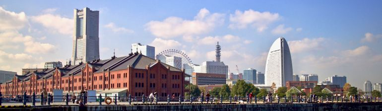 Yokohama Landmark Tower and Red Brick Warehouses