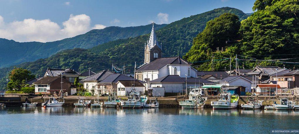 Village Sakitsu sur les îles Amakusa