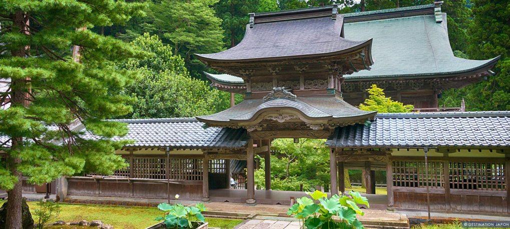 Porte du temple Eiheiji à Fukui