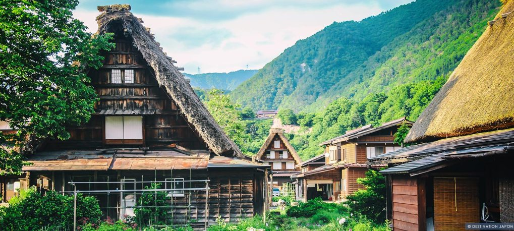 Maisons traditionnelles de Shirakawago