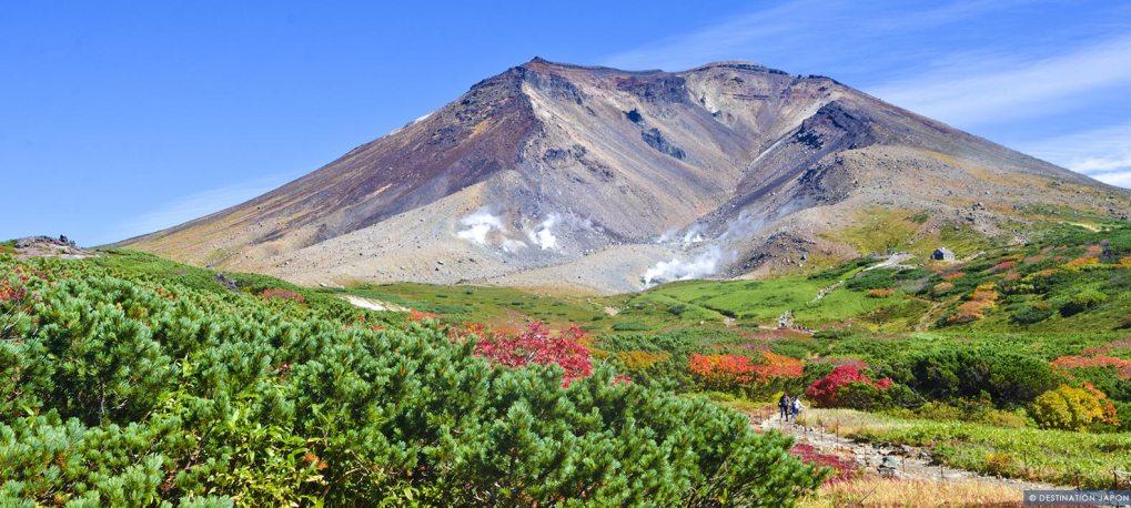Vue du Mont Asahidake à Hokkaido