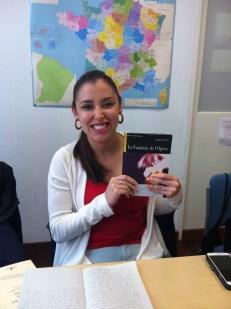 """Zandy nous a présenté un livre qu'elle avait étudié à l'université au Vénézuela : """"Le fantôme de l'opéra"""" de Gaston Leroux."""