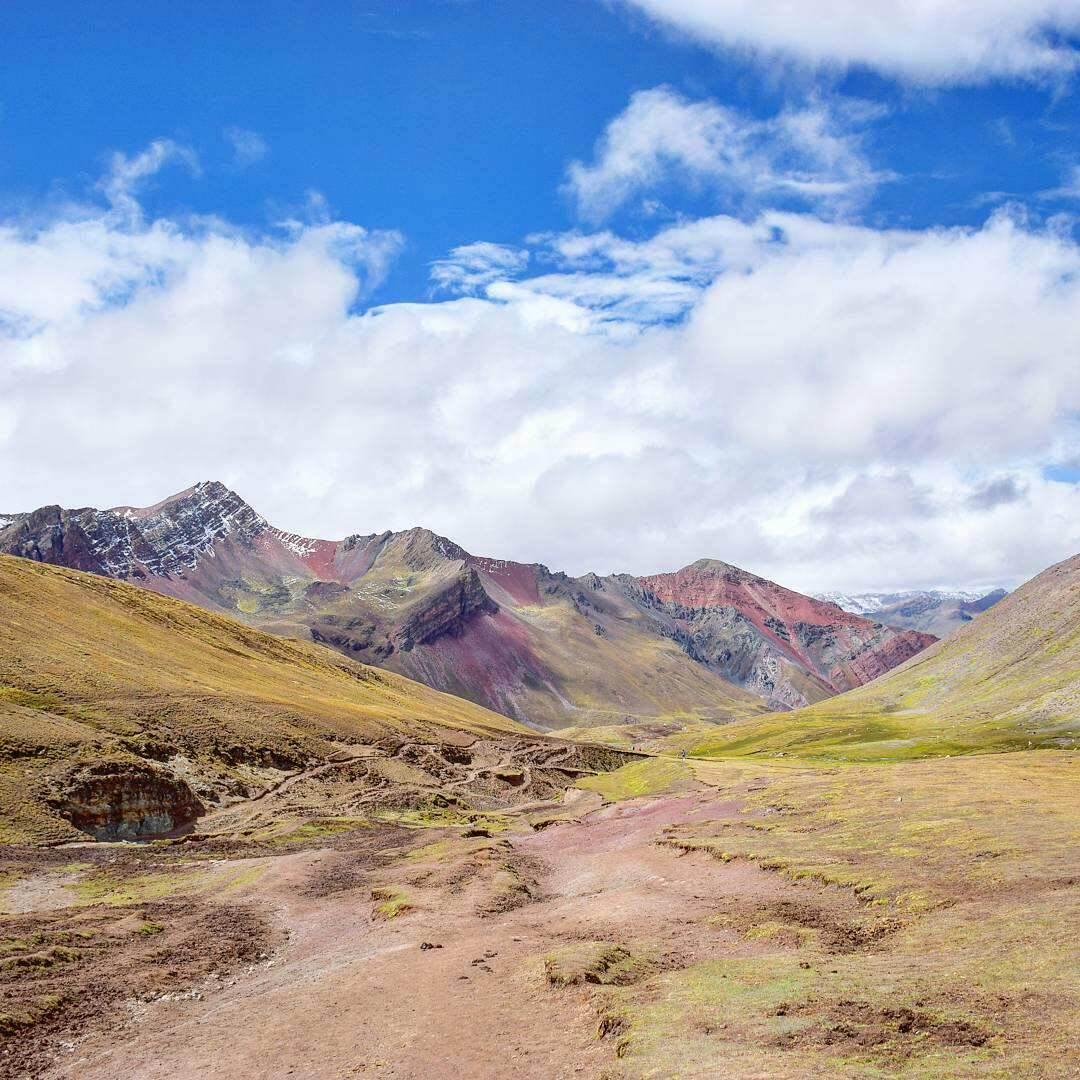 the beautiful rainbow mountain just outside of cusco