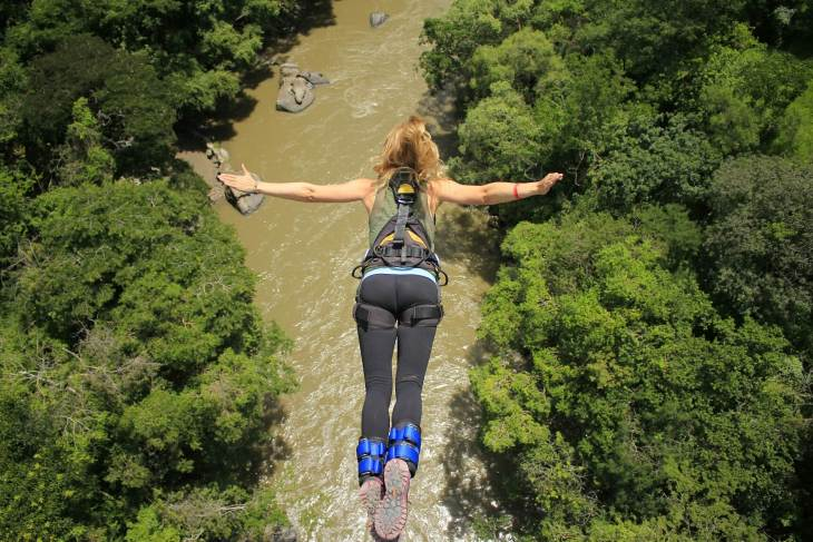 taking the jump at bungee san gil