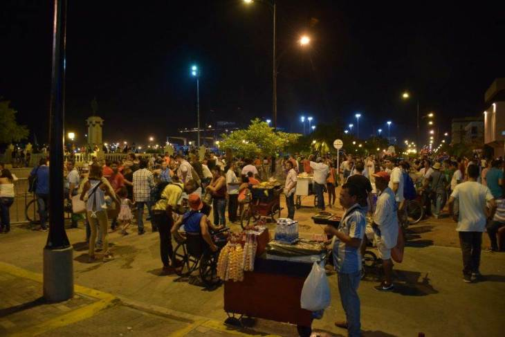 A street party in Santa Marta Colombia