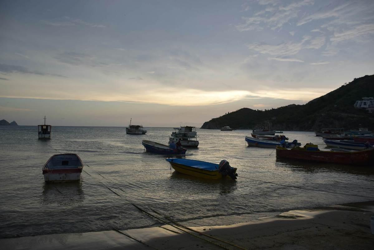 Taganga beach in Santa Marta Colombia