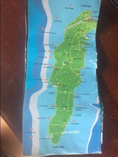 map of San Andres Island Colombia