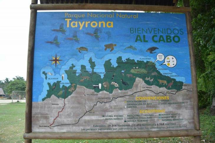 this is a map to the best beach in Tayrona