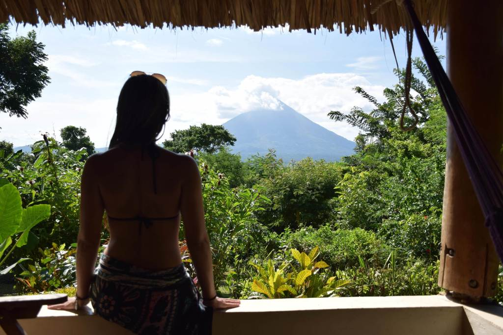 Choose wisely where to stay in Ometepe to get this view