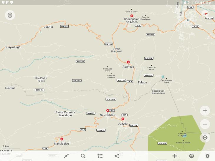 The Ruta de las Flores on maps.me