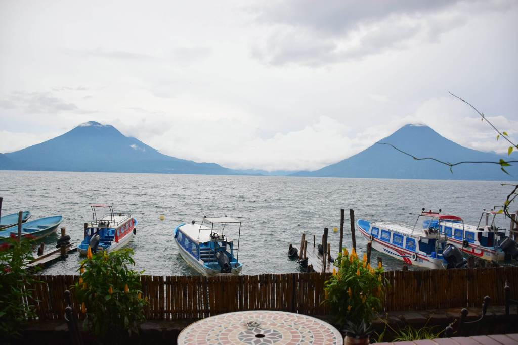 stay on a lakeside hotel at lake atitlan