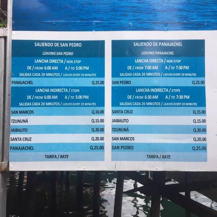 Lake Atitlan boat prices