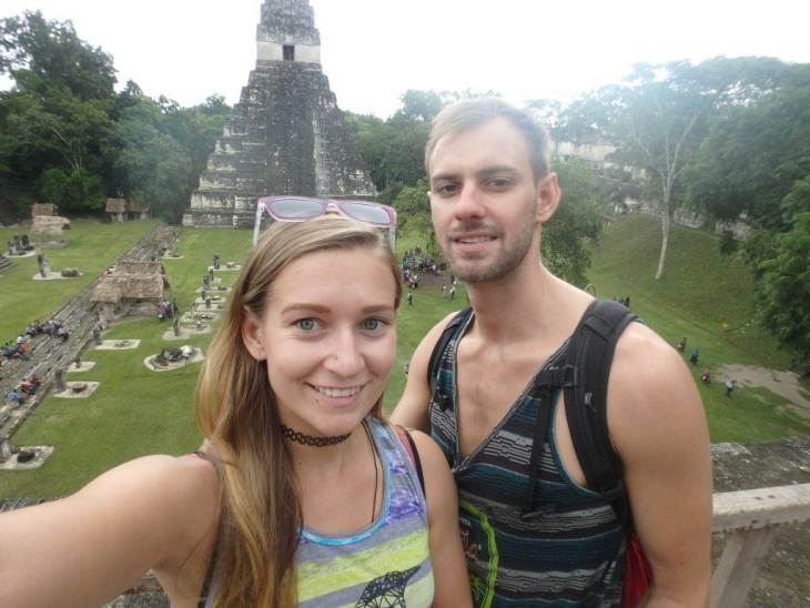 exploring the tikal ruins