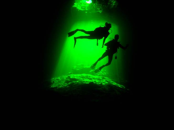 cenote diving in Tulum