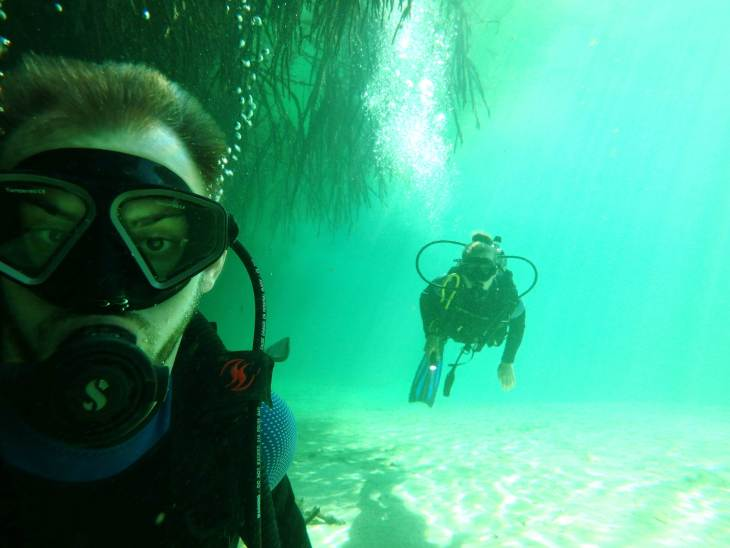diving in the cenotes in mexico
