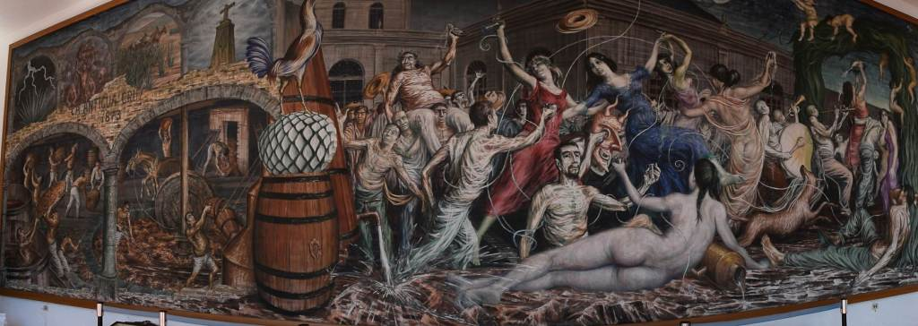 a famous painting in the town of Tequila