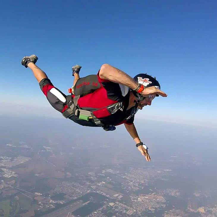 Daniel skydiving in Puerto Vallarta
