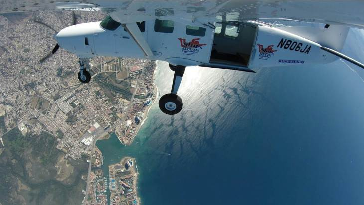 the views at skydive vallarta