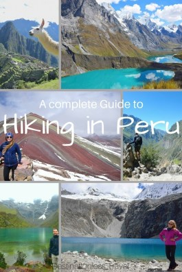 hiking in Peru pin