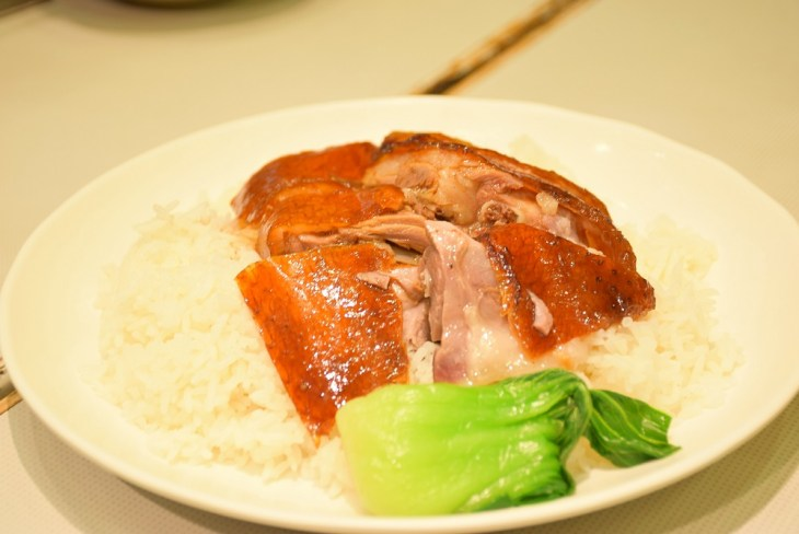 Roasted goose while backpacking in Hong Kong