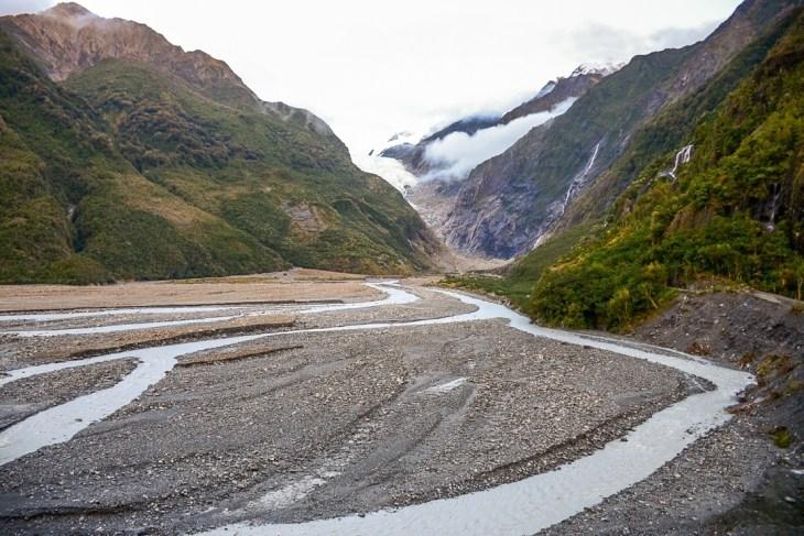 Franz Josef Glacier valley walk view