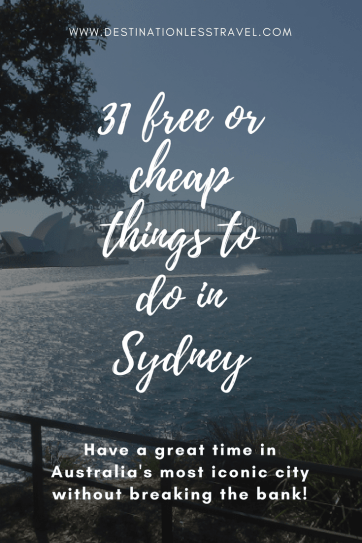 31 cheap things to do in sydney australia pinterest