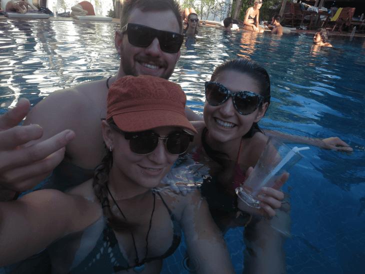hostel pool in siem reap