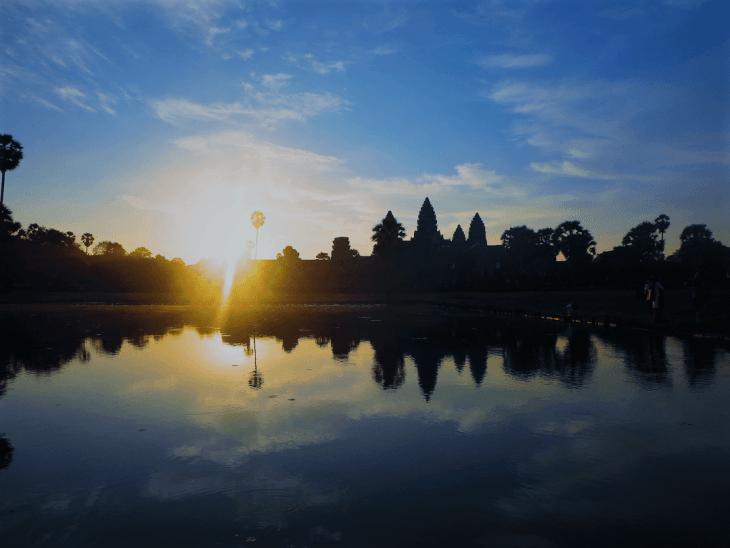 sunrise at angkor wat is amazing