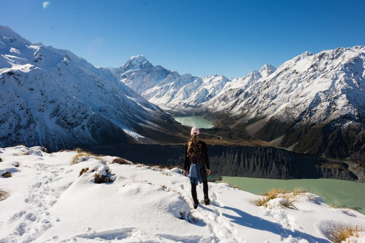 This is a hoto of the Sealy Tarns track in Mount cook National Park, New Zealand