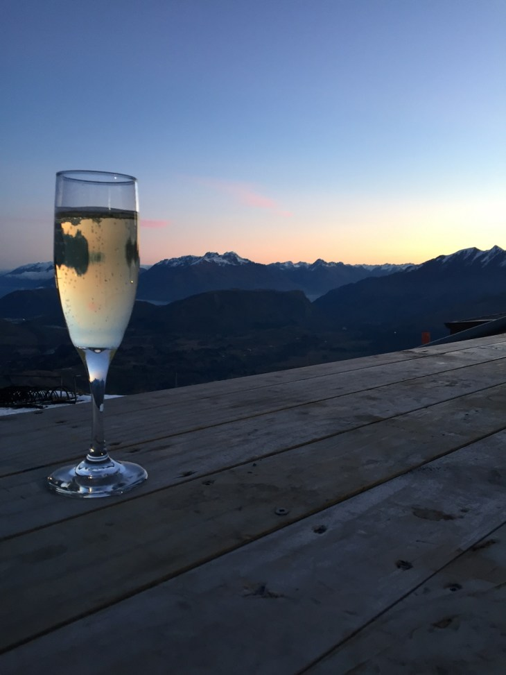 champagne upon arrival while enjoying the sunset