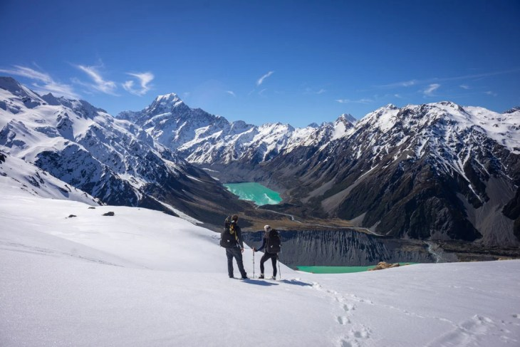 the sealy tarns track is one of the best photo spots in mount cook