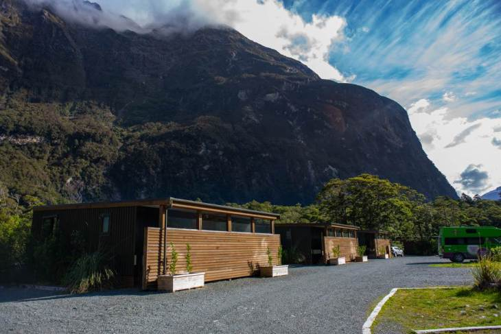 the milford sound lodge is one of the best options of where to stay in milford