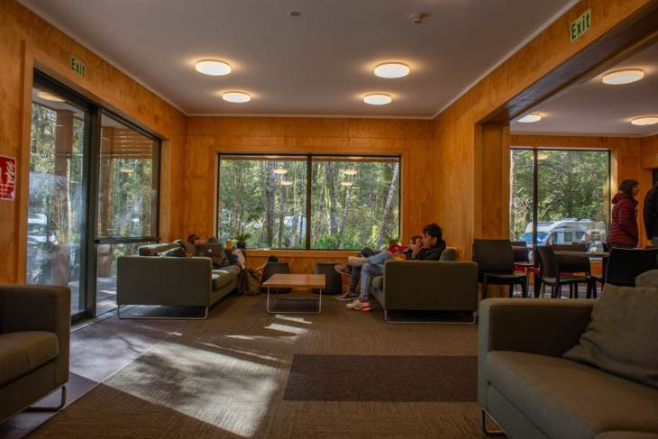the milford sound lodge common area