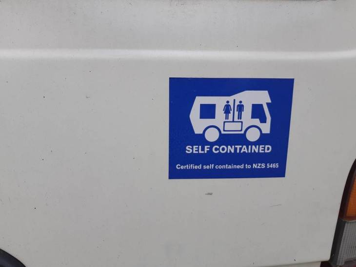self contained sticker in new zealand