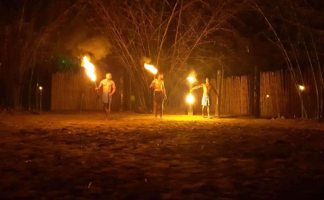 fire dancers in fiji