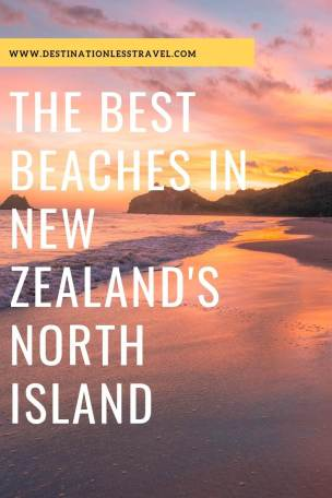 Best beaches in New Zealands north island pin
