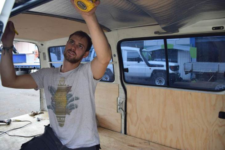 covering all the walls in our campervan conversion