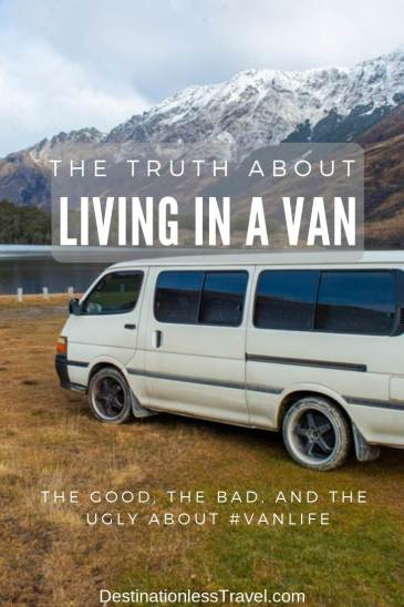 the truth about living in a van pin