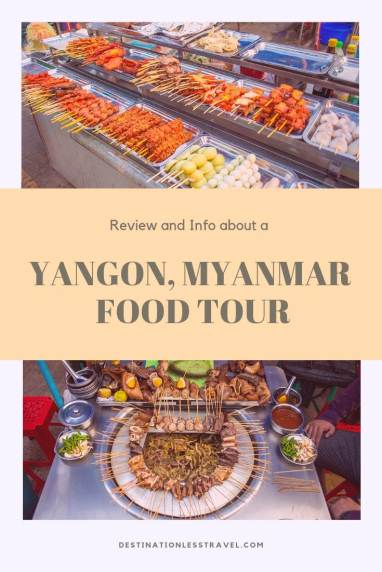 yangon myanmar food tour pin