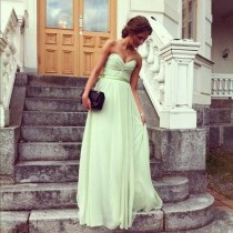 Maxi robe vert citron