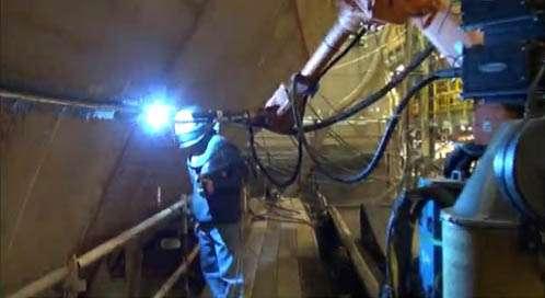 Tim, Welder at Bath Iron Works