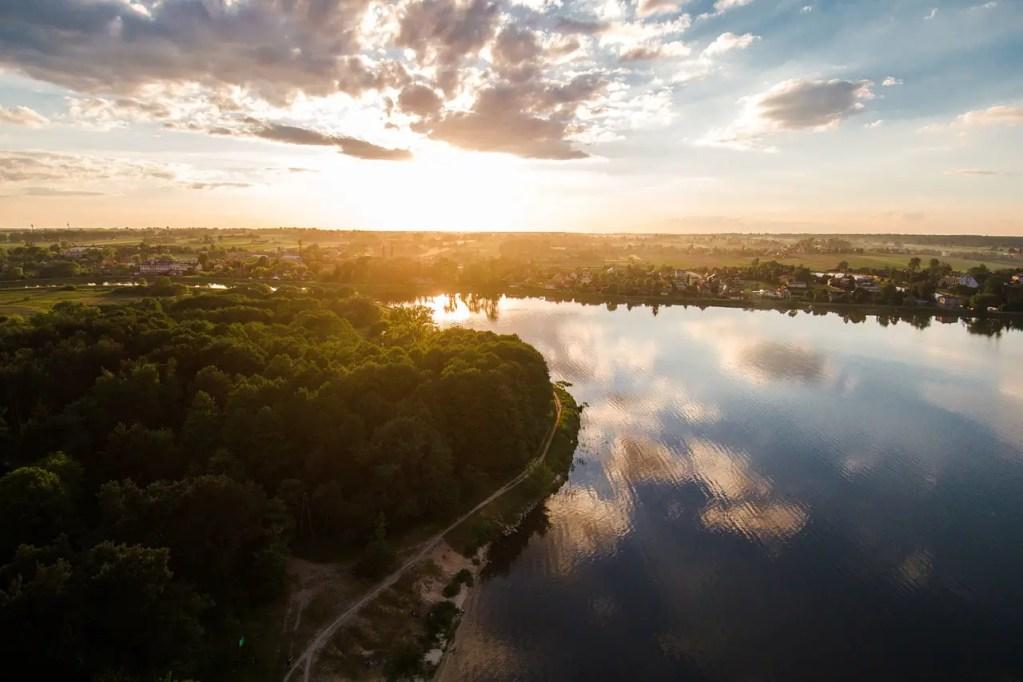 Lublin fleuve automne