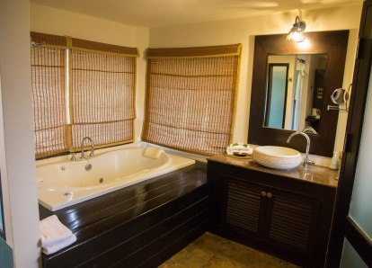 Bathroom in Beachfront Junior Suite at Phi Phi Island Village Beach Resort