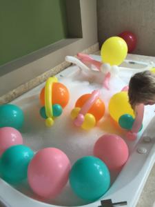 Balloon Bubble Bath Thanks to the Family Concierge Butler
