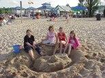 Building sandcastles are popular activities