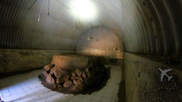 Inside of Kaliadem bunker on Merapi volcano