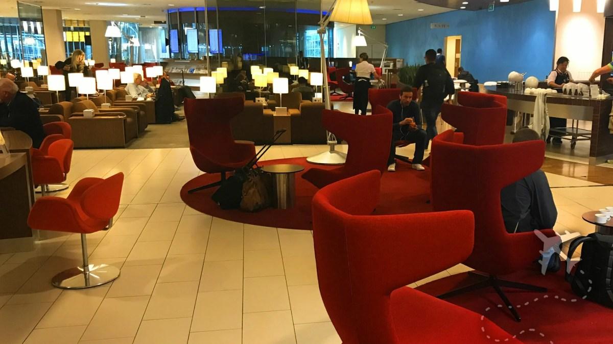 KLM Crown Lounge inside